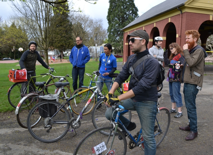 Bike swarm meetup.